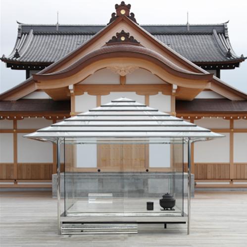 La Chashitsu (maison de thé) de verre Hikarian de l'artiste japonais Tokujin Yoshioka, installée à Kyoto pour un an ©Tokujin Yoshioka