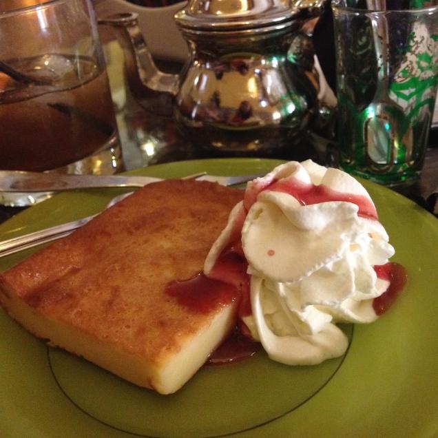La tarta de queso y yogurt de la teteria Dar al-Chai - ©Chloé Chateau