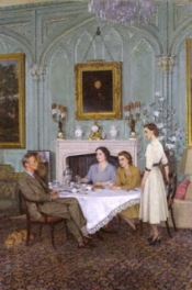 Conversation piece at the Royal Lodge, Windsor by Sir James Gunn 1950