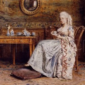 Afternoon Tea by George Goodwin Kilburne (détail)