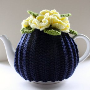 Daffodils on Midnight Blue - Floral Teapot Cosy by Tafferty Designs