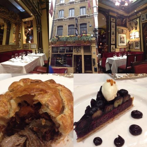 Déjeuner au Rules restaurant, le plus vieux restaurant de Londres, où une scène du derniers James Bond, Spectre, a été tournée - ©Chloé Chateau