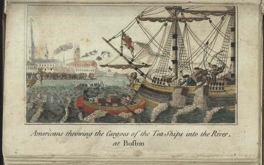 The Boston Tea Party by W.D. Cooper - 1789