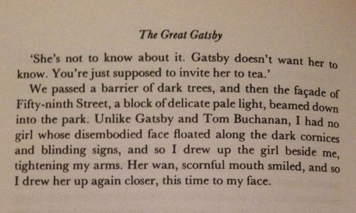F. Scott Fitzgerald, The Great Gatsby, Chapter IV - 3