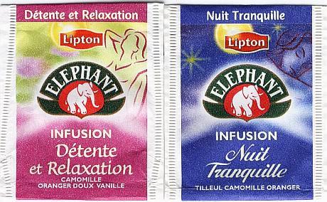 Infuisions Détente et relaxation et Nuit tranquille d'Éléphant