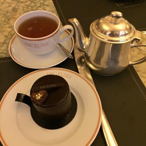 Tea time chez Angelina, Darjeeling et Choc Africain - ©Chloé Chateau