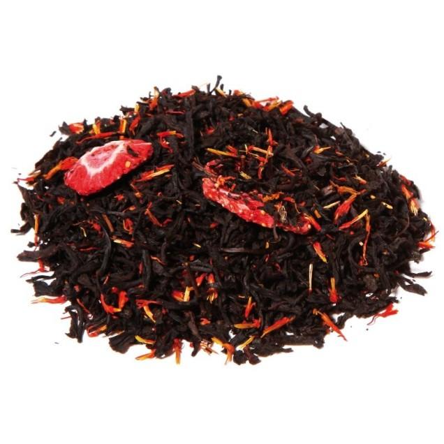 Thé noir parfumé fraise mousseux de T pour Thé - DR