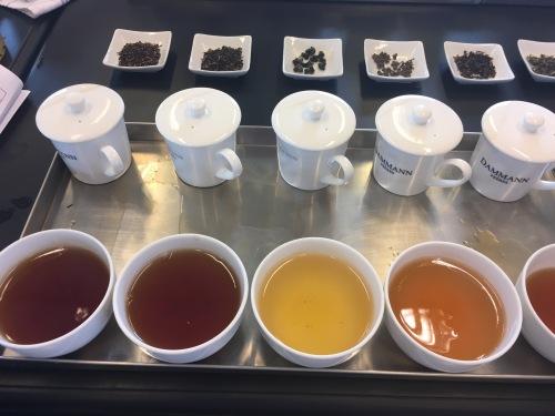Dégustation de différentes sortes de thé chez Dammann Frères - ©Chloé Chateau