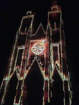 Photos : les illuminations de la cathédrale Saint-Gatien de Tours par Damien Fontaine - ©Chloé Chateau