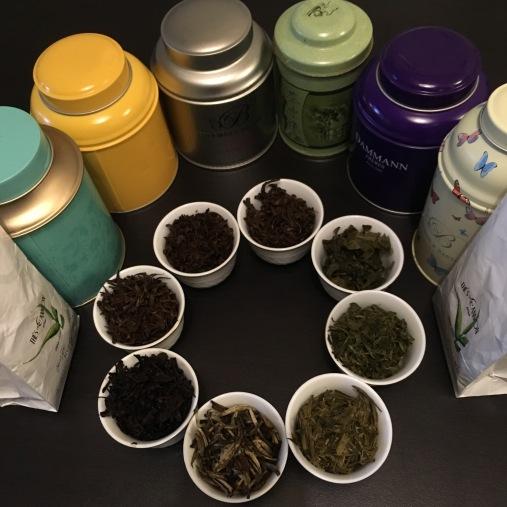 Les feuilles de thé après infusion à la fin de la Cheese and Tea Party - ©Chloé Chateau