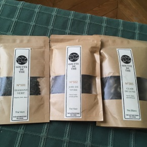 Dégustation des thés Goutte de thé gagnés grâce au concours de My Cup of Tea - ©Chloé Chateau