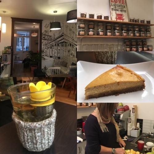 Première sortie dans un salon de thé tournageau au MYAH Café rue Bernard Palissy à Tours - ©Chloé Chateau