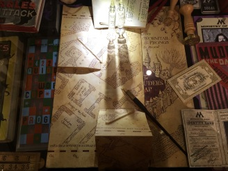 The House of MinaLima in London: original props from Harry Potter and Fantastic Beasts - the original Marauder's Map