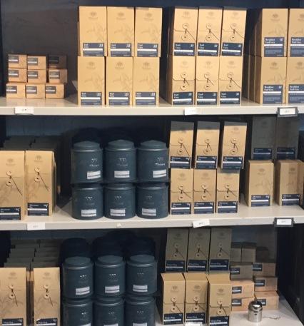 The iconic Whittard blue tea tin - Whittard of Chelsea Covent Garden Store