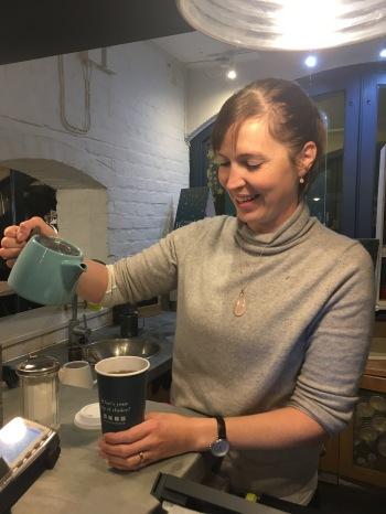 Marie-Laure, manager de la boutique Whittard of Chelsea Covent Garden