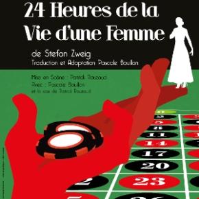 24h de la vie d'une femme au théâtre guichet Montparnasse avec Pascale Bouillon