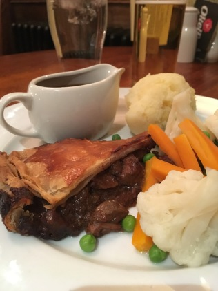 Steak and Kidney pie at The Station Pub in Port Erin on the Isle of Man