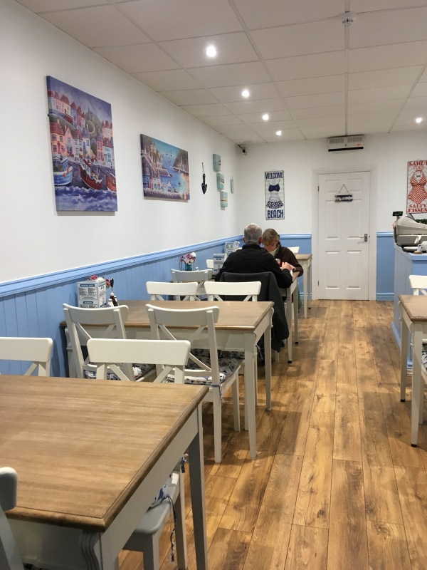 Fish and Chips at Port Erin Diner