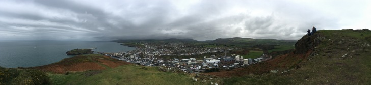 View from the hill in Peel, Isle of Man