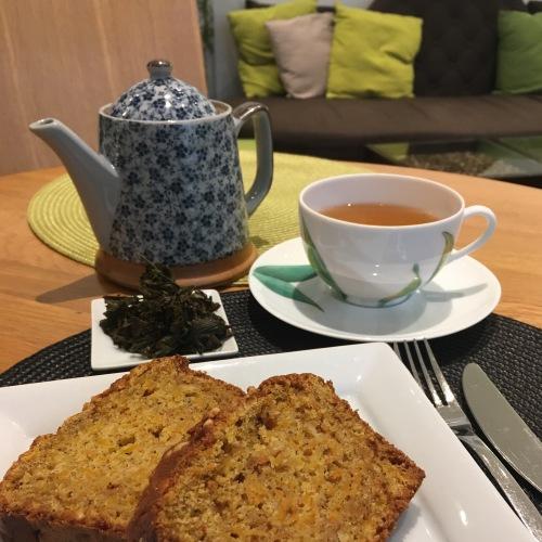 Déjeuner à L'essence du thé de George Cannon avec le oolong bio de Corée