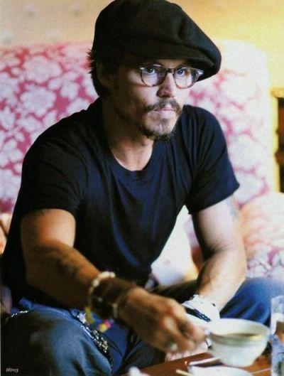 Johnny Depp drinks tea
