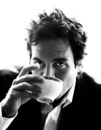 Mark Buffalo drinks tea