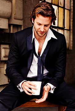 Bradley Cooper drinks tea