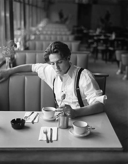 Hugh Grant drinks tea sexy
