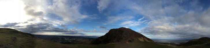 View from the Arthur's Seat in Edinburg - ©Chloé Chateau