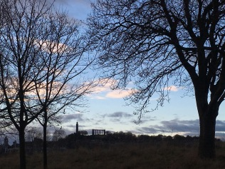 View of Calton Hill from Holyrood Park in Edinburg - ©Chloé Chateau