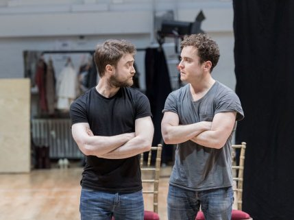 Rehearsals of Rosencrantz and Guildenstern Are Dead at The Old Vic - Daniel Radcliffe and Joshua McGuire - DR