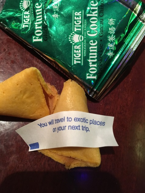 Glasgow-Dinner at Loon Fung Chinese Restaurant - Fortune cookie
