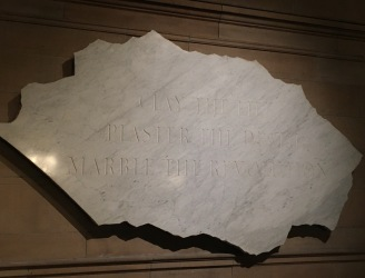 Glasgow-Kelvingrove Art Gallery and Museum-Clay the life, plaster the death, marble the revolution