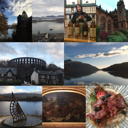 Road trip in Scotland from Oban to Glasgow by Loch Awe and Loch Lomond