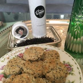 Recette de shortbread au fromage bleu et au thé noir Lapsang Souchong Les Jardins d'Osmane