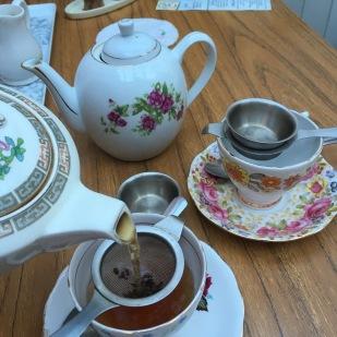 Tea time at Edith's House, Crouch End, London
