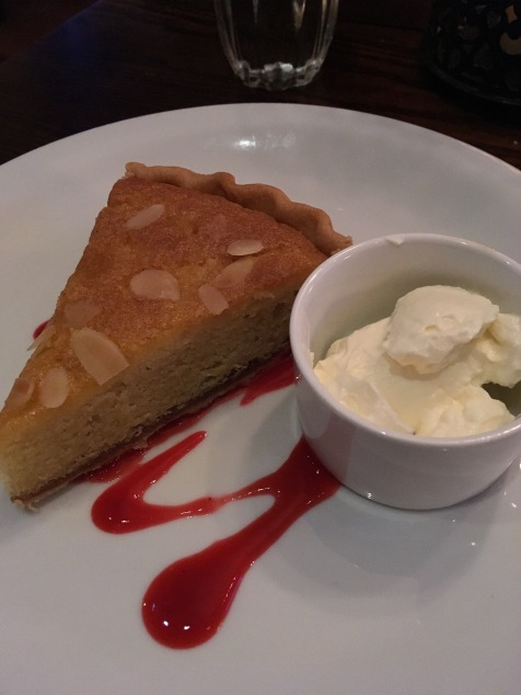 Dinner at the Antler's in Portree: Bakewell Tart