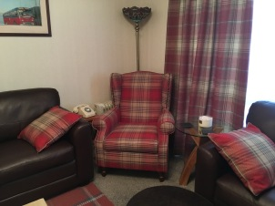 My hosts cosy living room in Portree
