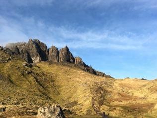 Climbing the Old Man of Storr, Isle of Skye, Scotland