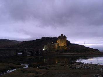 Eilean Donan Castle nightfall, Scotland