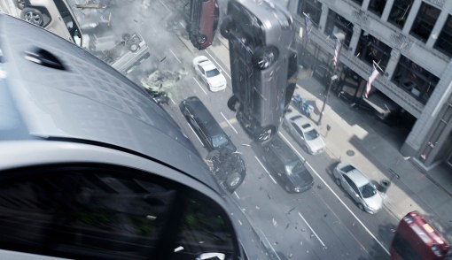 Fast And Furious 8 - Cars falling from building