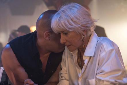 Fast And Furious 8 - Vin Diesel and Helen Mirren