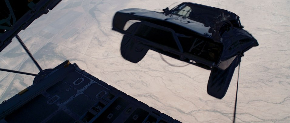 Fast and Furious 7 - Cars dropped from a plane