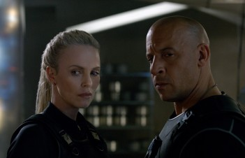 Fast And Furious 8 - Charlize Theron and Vin Diesel