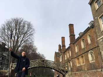 Punting in Cambridge - Back to the Mathematical Bridge