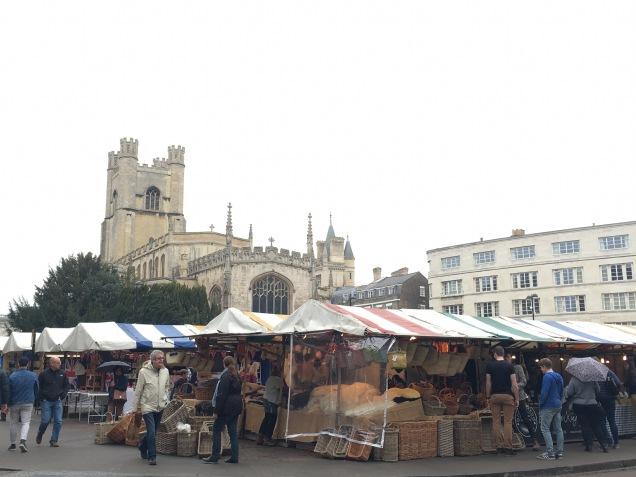 Cambridge Market on a Sunday morning
