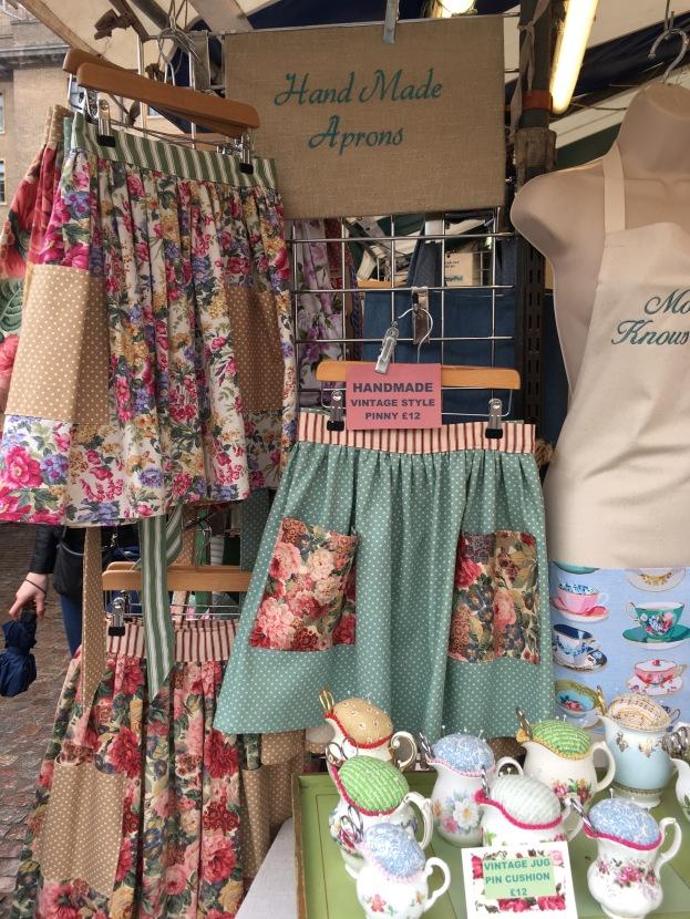 Handmade aprons on Cambridge Market