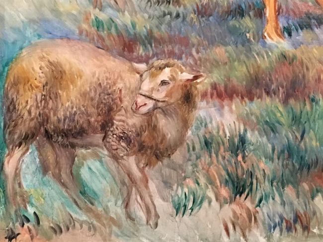 Fitzwilliam Museum in Cambridge - Pierre-Auguste Renoir, The Return from the fields, 1886, détail
