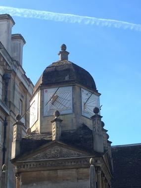 Gonville and Caius College in Cambridge - clock
