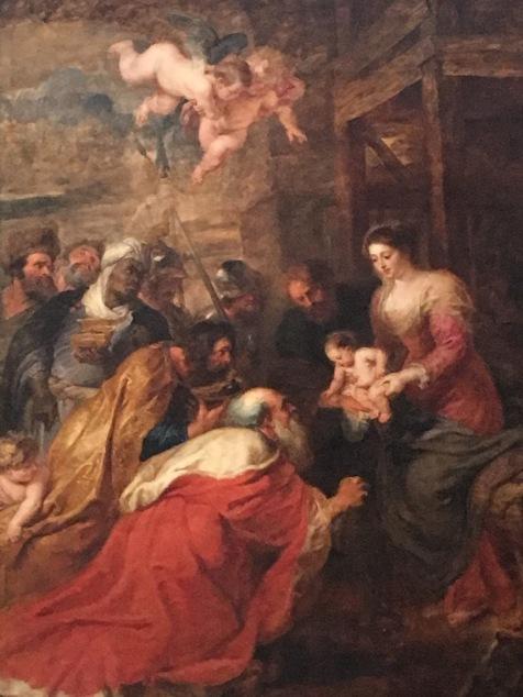 King's College Chapel in Cambridge - L'Adoration des Mages de Rubens
